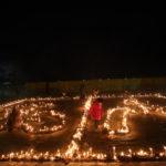 1月16日、昆陽池公園での「追悼のつどい」の様子