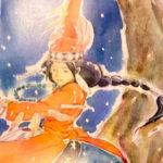 クロスロードカフェギャラリーで神谷悦治展開催中!「おてんばお姫さまとピッツァイオーロ」